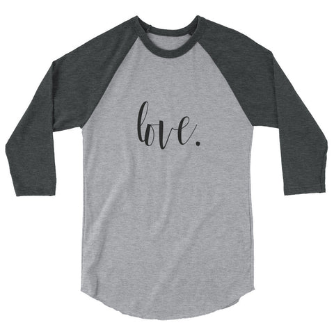 Love-She is-3/4 sleeve Raglan Women's Shirt-Ladies Tee