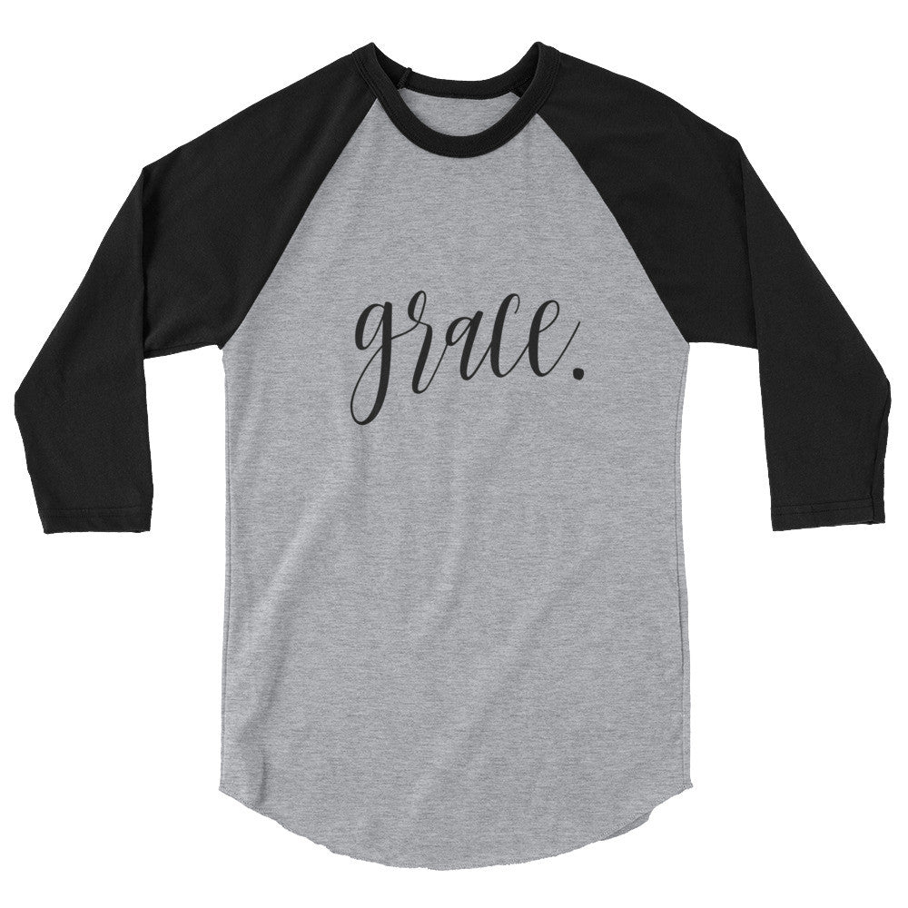 Grace-She is-3/4 Sleeve Ladies Raglan Shirt-Women's Tee