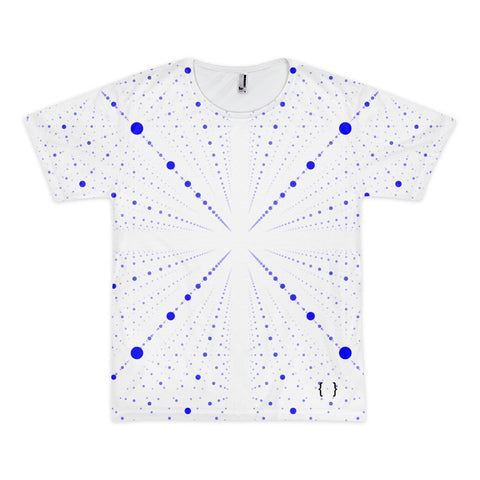 Galaxy Blue Dots Short Sleeve Men's T-shirt-All Over Print Tee