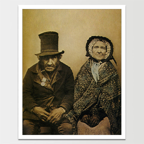 1860 Married Couple Portrait Print *REMASTERED*