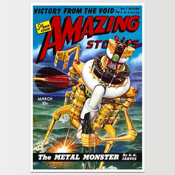 Amazing Stories: The Metal Monster Art Print *REMASTERED*