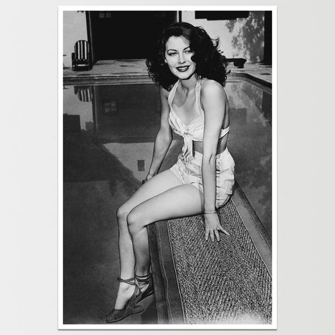 Ava Gardner in Swimsuit 1950's Print  *REMASTERED*