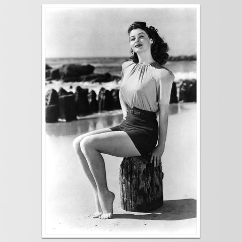 "Ava Gardner on Beach Print 12X18"" *REMASTERED*"