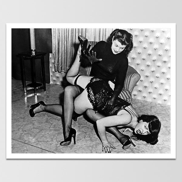 Bettie Page Spanking Print *REMASTERED*