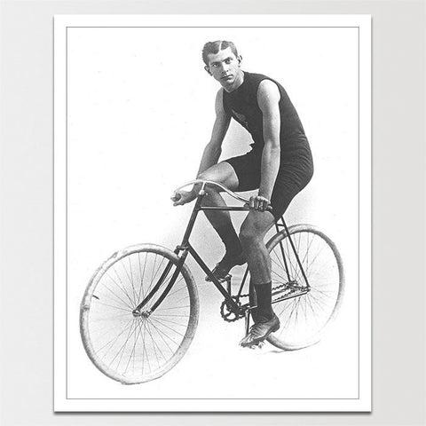 1800's Hot Guy on Bike Print *REMASTERED*