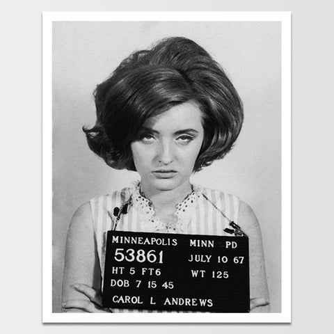 Carol Andrews Single Mugshot Print *REMASTERED*