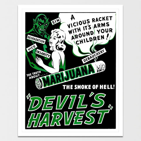 Vintage Devil's Harvest Poster Print *REMASTERED*