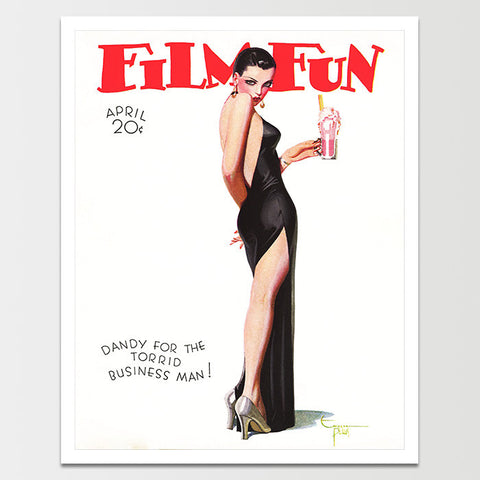 Film Fun Magazine: Black Dress and Snake Print *REMASTERED*