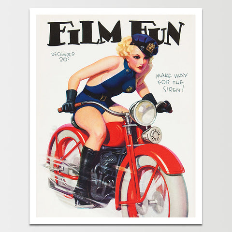 Film Fun: Police Motorcycle Print *REMASTERED*