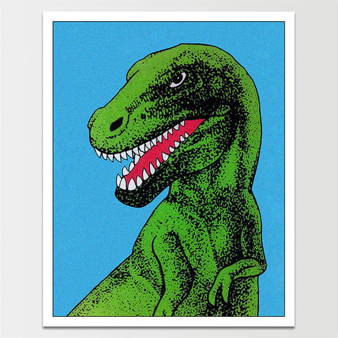 Vintage Green T-Rex Print *REMASTERED*