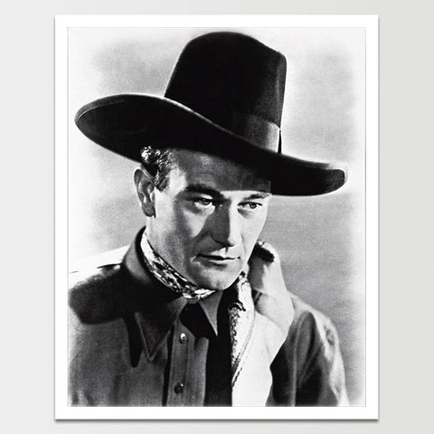 John Wayne Big Hat Print *REMASTERED*