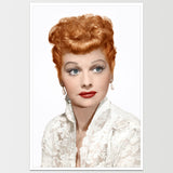 Lucille Ball in White Print *REMASTERED*