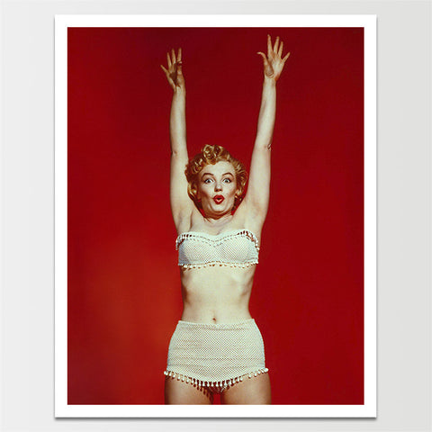 Vintage Marilyn Monroe in Swimsuit Print *REMASTERED*