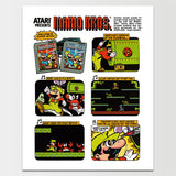 Atari Early Mario Brothers Storyboard Poster Print *REMASTERED*