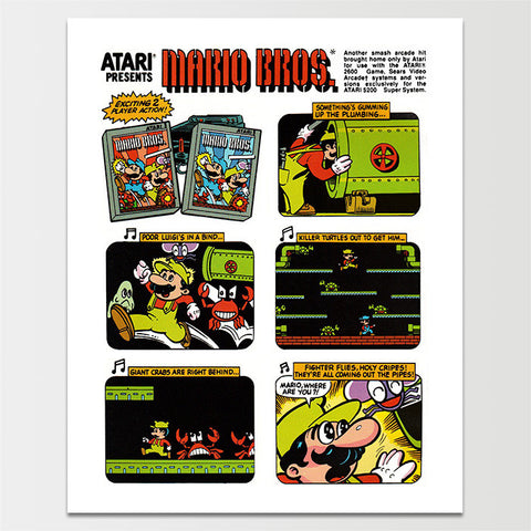 Early Mario Brothers Storyboard Poster Print *REMASTERED*
