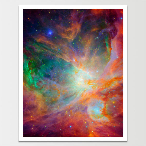 "Sale! 6X8"" Green & Red Nebula *REMASTERED*"