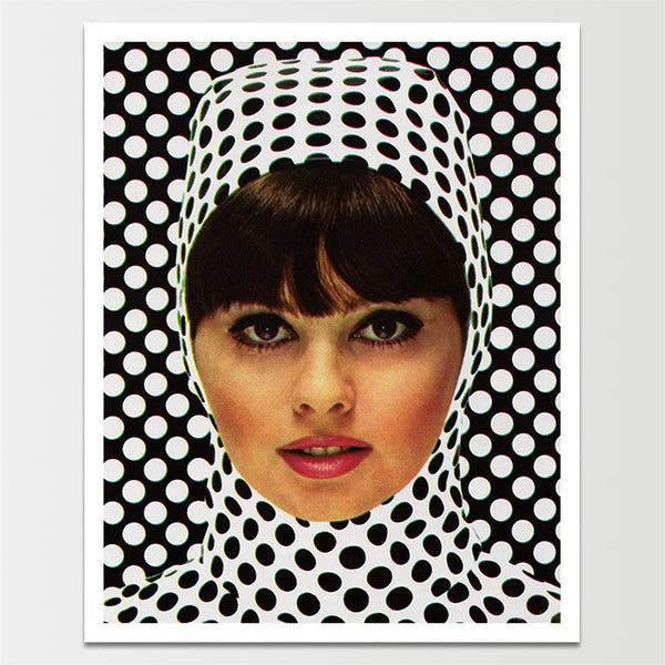 Vintage 1960's Polka Dotted Lady Print *REMASTERED*
