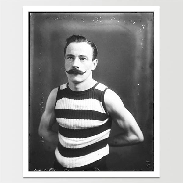 "Sale! 6X8"" 1800's Guy With an INCREDIBLE Mustache Print *REMASTERED*"