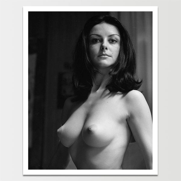 Vintage 1960's 'Topless Woman' Pinup Model Print *REMASTERED*