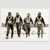 "Tuskegee Airmen Historic Print 12X18"" *REMASTERED*"