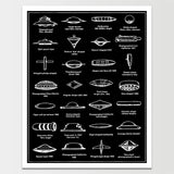 "Sale! 6X8"" UFO Ships Various Types v.II Print *REMASTERED*"