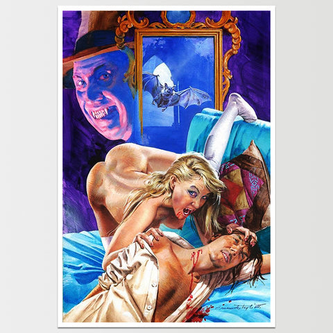"Vampire Lady Dracula Art Print 12X18"" *REMASTERED*"