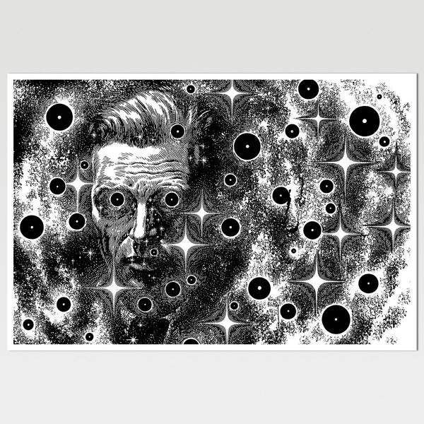 Blackholes: Man in Space Virgil Finlay Art Print *REMASTERED*