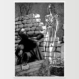 Ghost in The Graveyard Virgil Finlay Art Print *REMASTERED*
