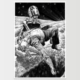 Robot Grave' Virgil Finlay Art Print *REMASTERED*