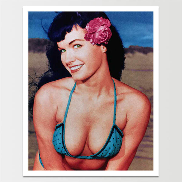 "Sale! 6X8"" Vintage 1950's Bettie Page 'Glorious View' Nude Print *REMASTERED*"