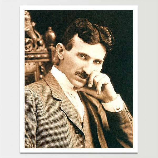 "Sale! 6X8"" 1800's Tesla Headshot Print *REMASTERED*"