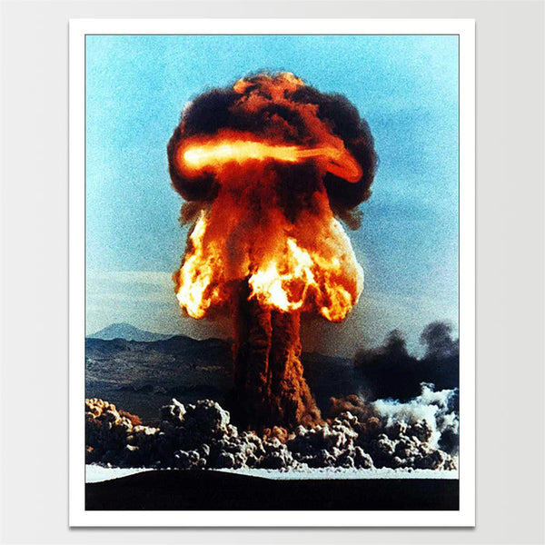 Space Age Atomic Nuclear Explosion Print *REMASTERED*