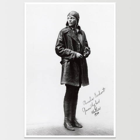 Amelia Earhart in Flight Gear Print *REMASTERED*