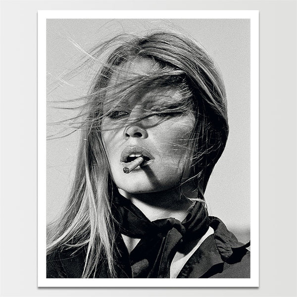 Vintage 1960's Bridget Bardot Smoking a Cigar Print *REMASTERED*
