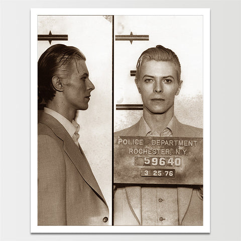 Vintage DAVID BOWIE Mugshot 1976 Print *REMASTERED*