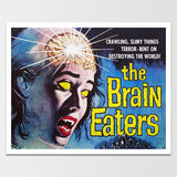 "Sale! 6X8"" Science Fiction Brain Eaters Print *REMASTERED*"