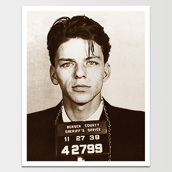 Vintage Sinatra Single Mugshot Print *REMASTERED*