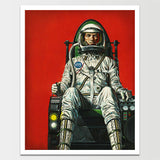 "Sale! 6X8"" Space Age Astronaut Print *REMASTERED*"