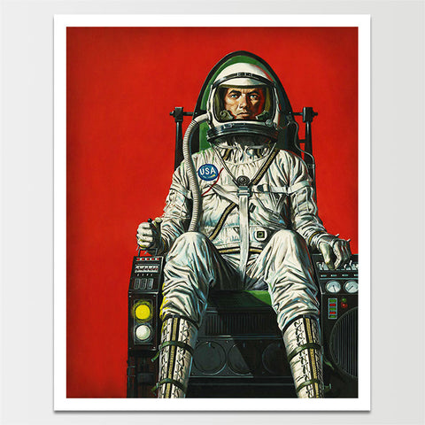 Space Age Astronaut Print *REMASTERED*