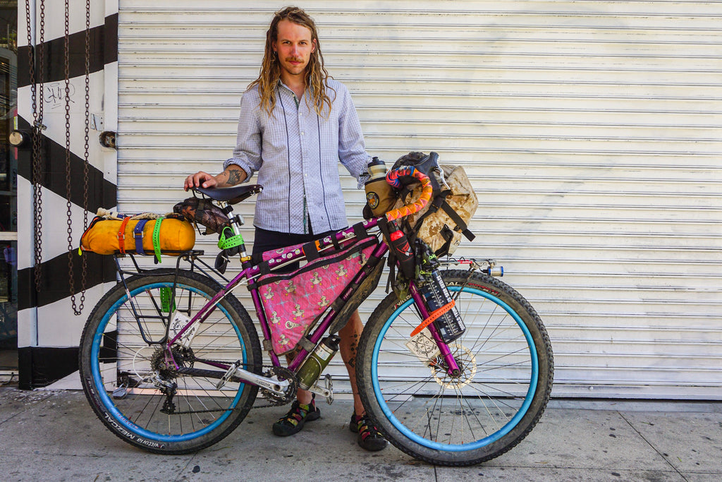 Bike Packing with a Jumbo Jammer by Road Runner Bags