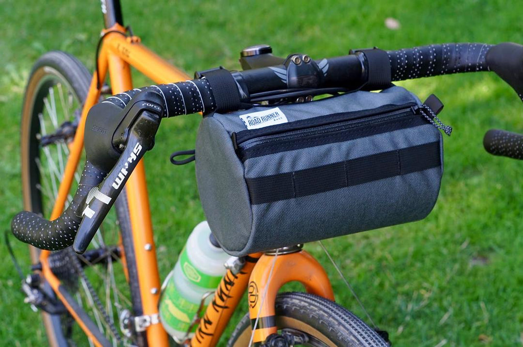 Road Runner Bags Burrito Supreme Mounted to an Ira Ryan Cycles Gravel Grinding Cyclocross Adventure Bike