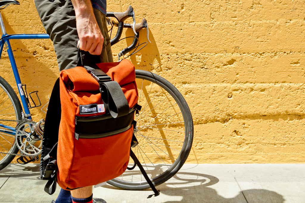 roll top backpack road runner bags