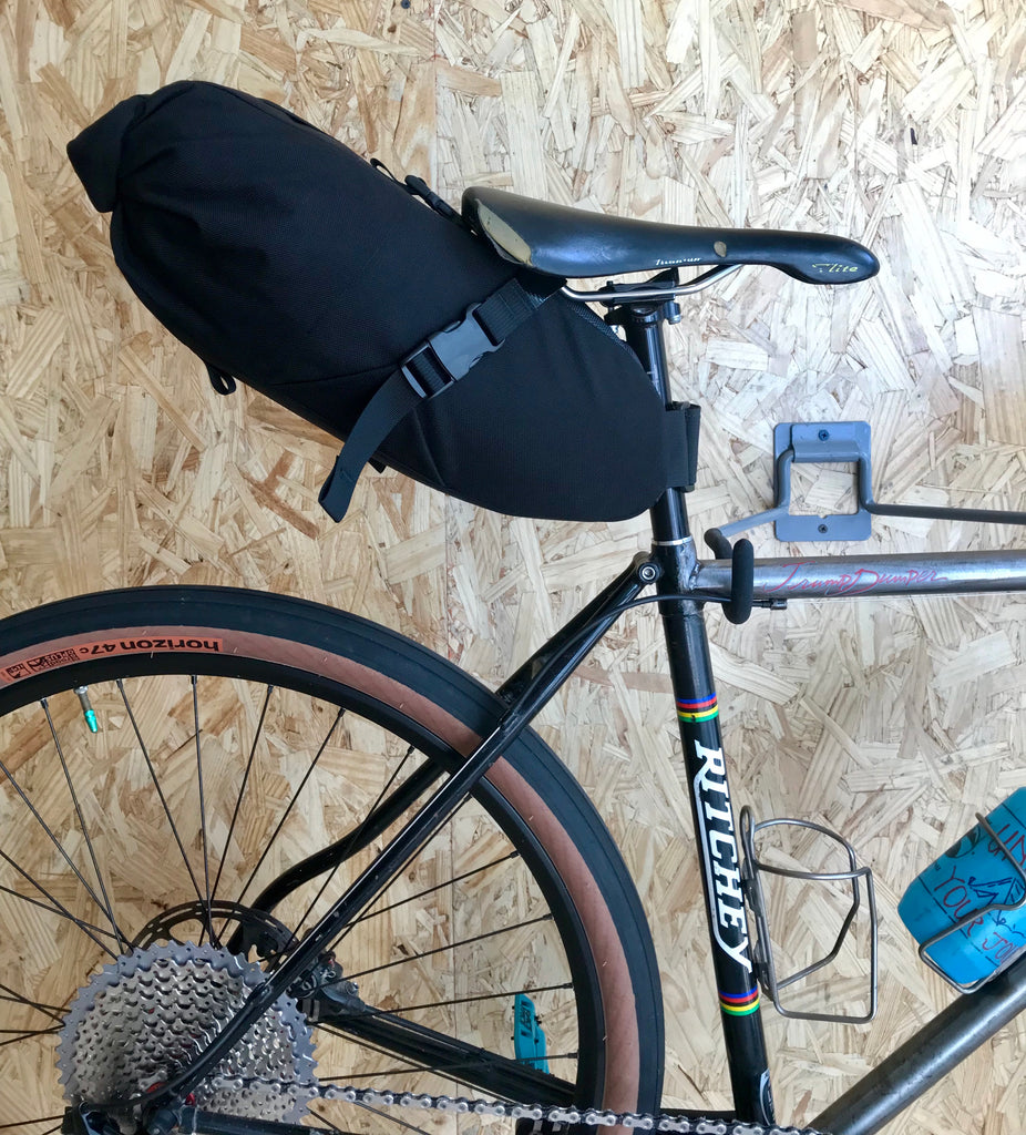 The Road Runner Bags XL Fred Saddle Bag for commuting, camping, bike packing, bike touring and all other types of gravel grinding, mountain biking and even road riding for you roadies