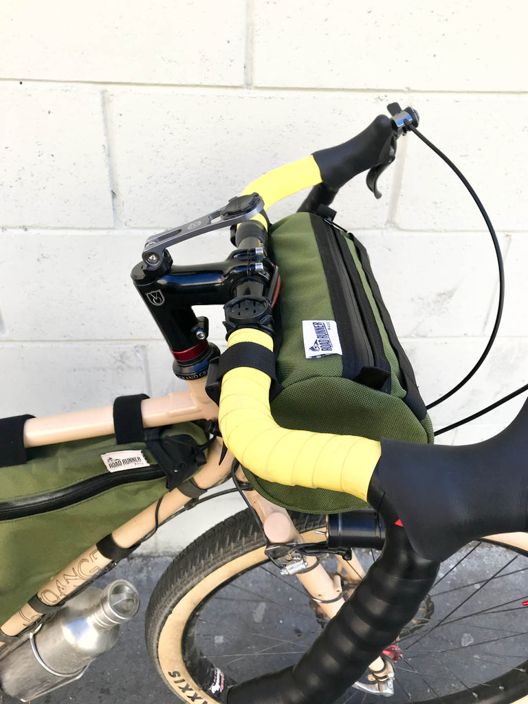 Road Runner Bags California Burrito Handlebar Bag for Day Packing, Bike Packing, Bike Touring, Road Riding, Gravel Riding and Grinding, Grinduro, Dirty Kanza and more