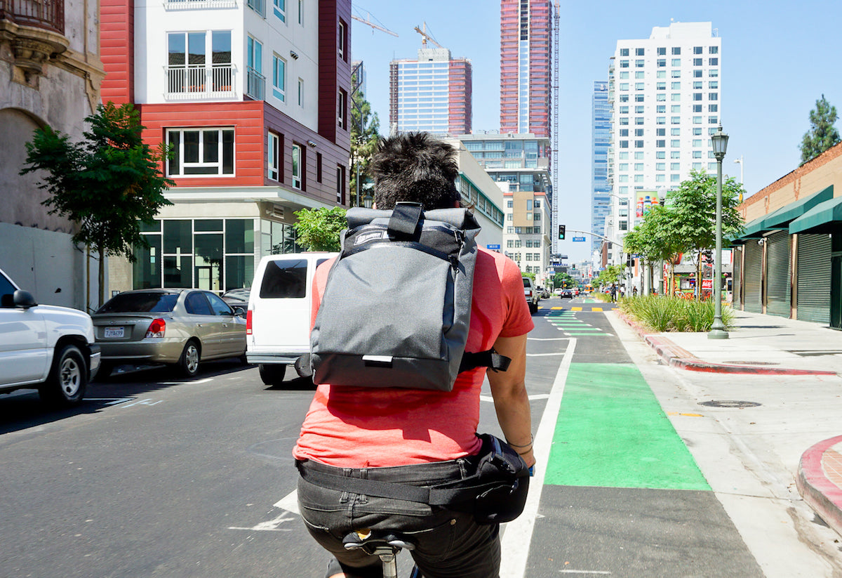 Small Roll Top Backpack for Commuting and Casual City Hangs