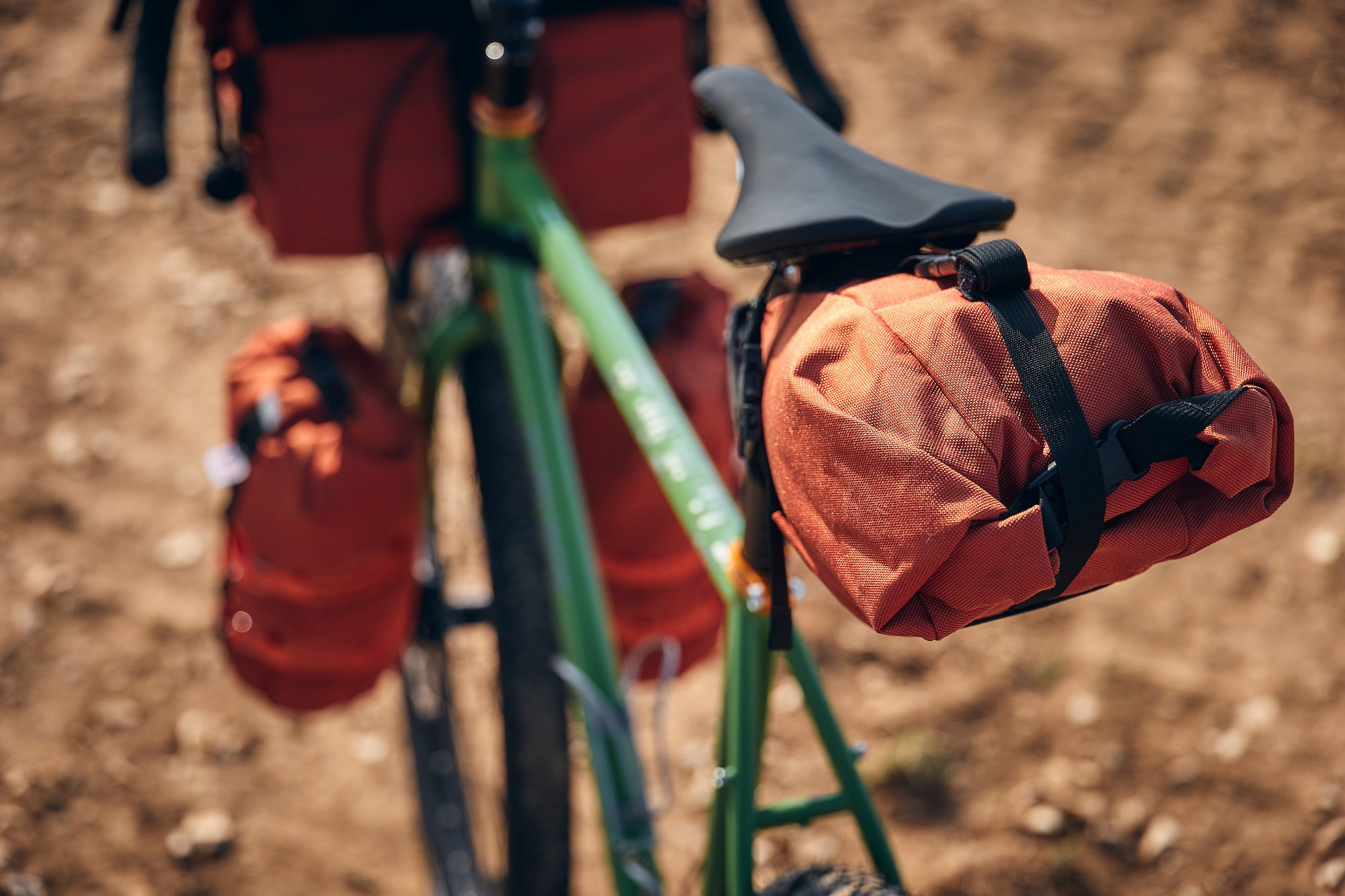 Road Runner Bikepacking Bags on a custom Fairlight Gravel xBike