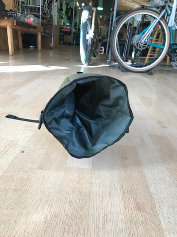 Road Runner Bags XL Fred Bag for Bike Packing. This Saddle Bag is waterproof and durable, MUSA for Touring, Commuting and all types of mountain biking, gravel grinding and dirt riding