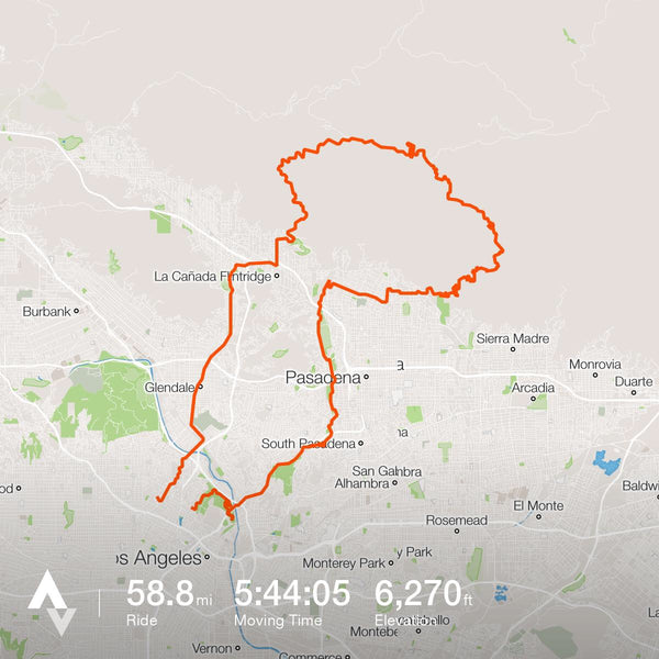 #lasucksforcycling and my route from Echo Park and up to Mt. Wilson