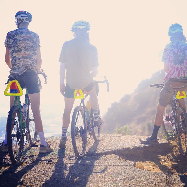 The tri-force of cycling in LA. Gravel Grinding with the Road Runner Bags crew