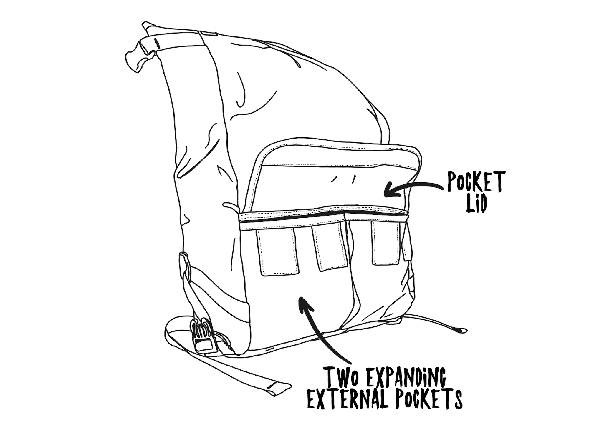 Middle Earth Informational Sketch Front Pockets Expanded